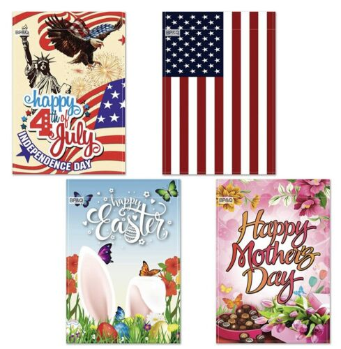 Double Sided Yard Flags Seasons Holidays Garden Flag Set of 12-12x18 Inch