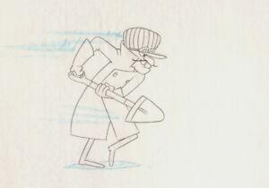 Dick-Dastardly-Drawing-cel-HB-Hanna-Barbera-1990-Fender-Bender500-WakeRattleRoll