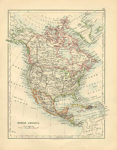 image is loading 1892 victorian map north america dominion of canada