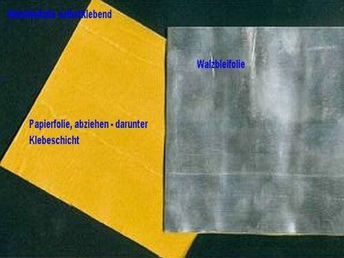5 PlattenTrimmblei Walzblei Bleifolie selbstklebend 22,0 x 10,0 cm x1mm je 300 G