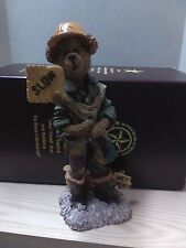 """1999 Boyds Bears Folkstone Collection """"Jack Hammer.. Hard Hat"""" #2885"""
