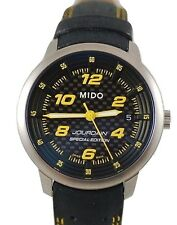Rare MIDO M. Jourdain Special Edition Men's Black Yellow Racing Watch M47304784