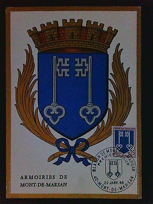 France Mk 1966 Wappen Mont-de-marsan Blazon Maximumkarte Maximum Card Mc C9563 Briefmarken Europa