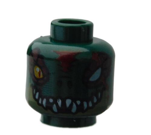 Lego Kopf in dunkelgrün zwei Gesichter 3626cpb0888 Cragger Alien Chima Neu