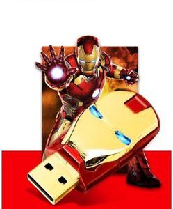 Clé USB 2.0 Flash Drive 32GO Memoire Thumb Stick Led Iron man