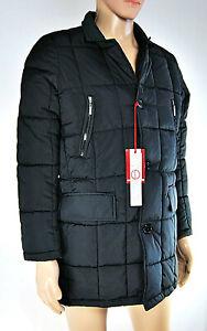 premium selection 2cc9d 6f4cc Dettagli su Giaccone Imbottito Uomo Piumino ESSEWESSE Cappotto Nero D592 Tg  S M L XL