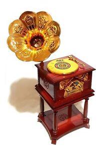 Schöne Retro Spieluhr Grammophone Grammofon Musik Melodie Spieldose Schallplatte Spieluhren & -dosen Mechanische Musik