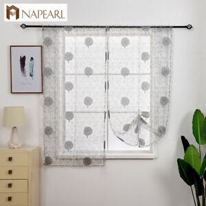 Details about NAPEARL 1 Panel Floral Kitchen Curtains Balloon Drapes Rod  Pocket Roman Shades