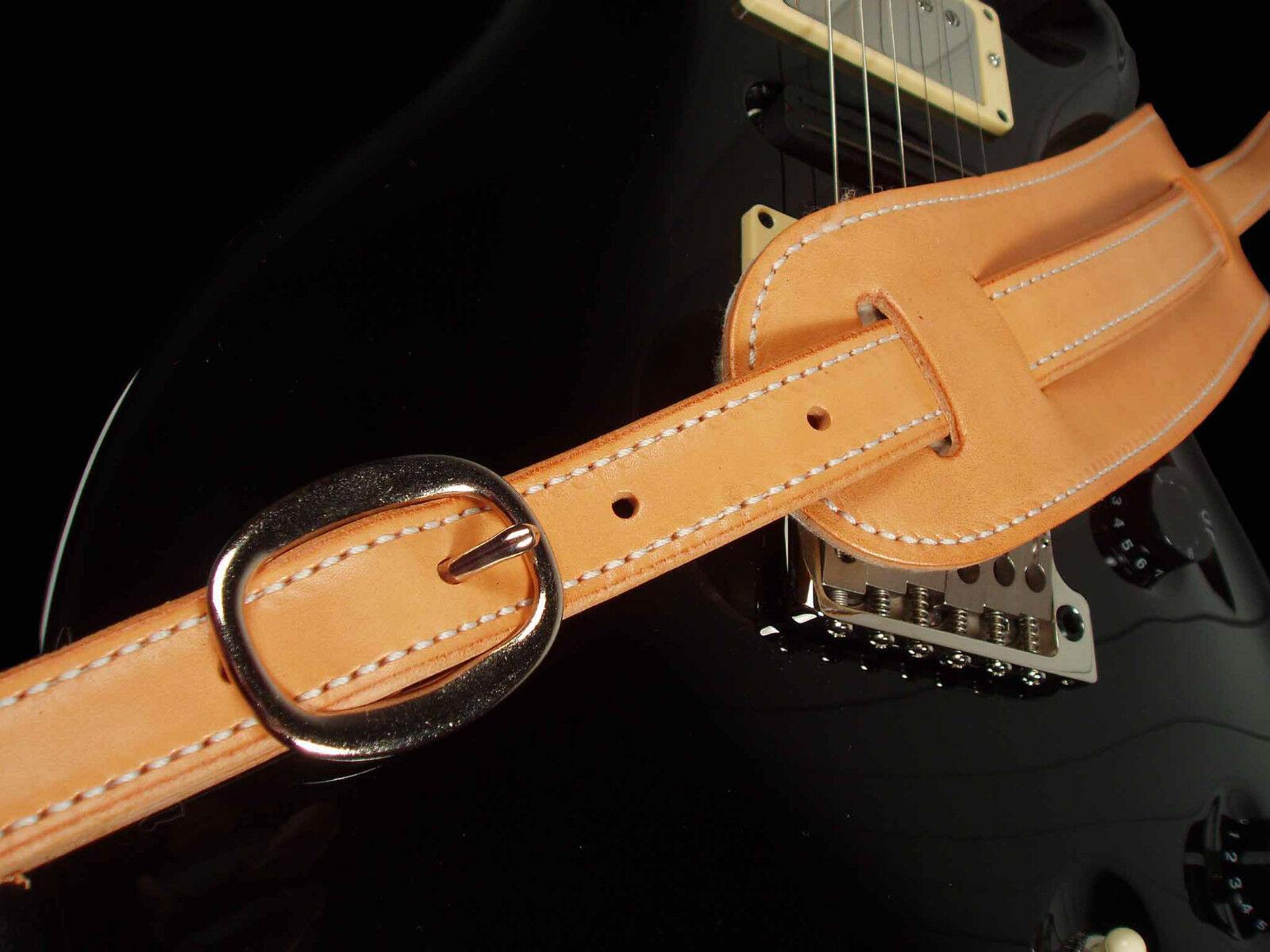 2018 EL DORADO LEATHER GUITAR STRAP - CLASSIC - braun, schwarz OR TAN - NEW