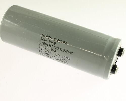 77000uF 15V Aluminum Electrolytic Large Can Capacitor 3186EH773U015AMA2
