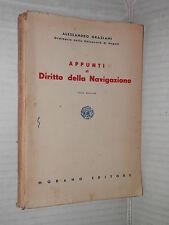 APPUNTI DI DIRITTO DELLA NAVIGAZIONE Alessandro Graziani Morano 1954 libro di
