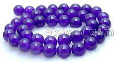 "SALE High quality 10mm Round Purple jade gemstone beads strands 15""-los373"