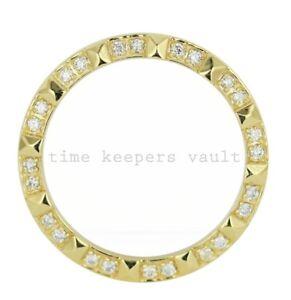 Custom-18K-Yellow-Gold-Pyramid-Diamond-Bezel-To-Fit-Rolex-26mm-6917-69173