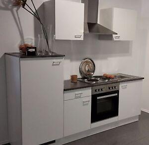 Einbauküche MANKAWHITE 10 Küche Küchenzeile Küchenblock 220 cm ohne ...
