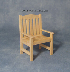 Image Is Loading Plain Wood Garden Chair Miniature Dolls House Garden