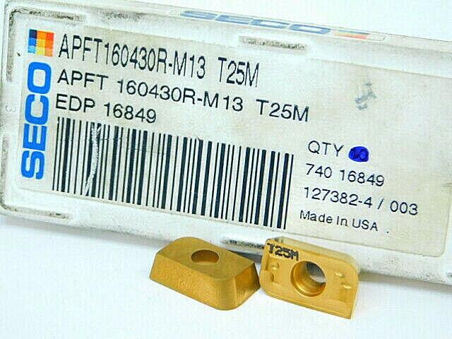 10 NEW Inserts SECO APFT 160430R-M13 T25M