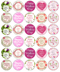 mothers day edible cupcake toppers fairy cake toppers edible wafer paper ebay. Black Bedroom Furniture Sets. Home Design Ideas