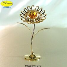 GIRASOLE GOLD CRYSTOCRAFT SWAROVSKI ELEMENTS IDEALE PER BOMBONIERE