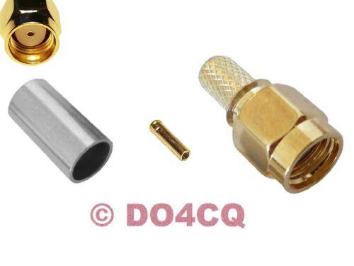 sertir f 10x SMA reverse connecteur rg58 /& rg142-Funk /& WLAN Teflon j04f
