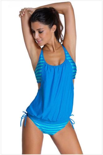 Women/'s Tankini Bikini Set Push up Padded Swimsuit Bathing Suit Swimwear Beach W