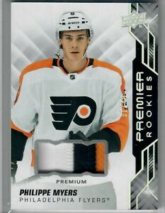 PHILIPPE-MYERS-2019-20-UD-Premier-ROOKIE-PATCHES-3-COLOR-31-OF-49-FLYERS-SSP