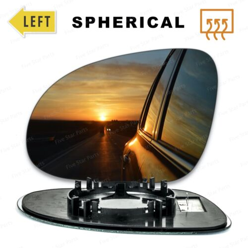 Left Passenger side Wing mirror glass for VW Eos 2006-2008 Heated