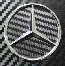 Carbon negro mercedes estrella volante emblema esquinas MB-AMG e190 nuevo 46mm
