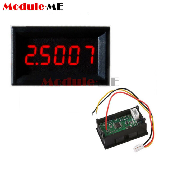 Blue LED 5 Digit DC 0-4.3000-33.000V Digital Voltmeter Voltage Meter Car Panel K
