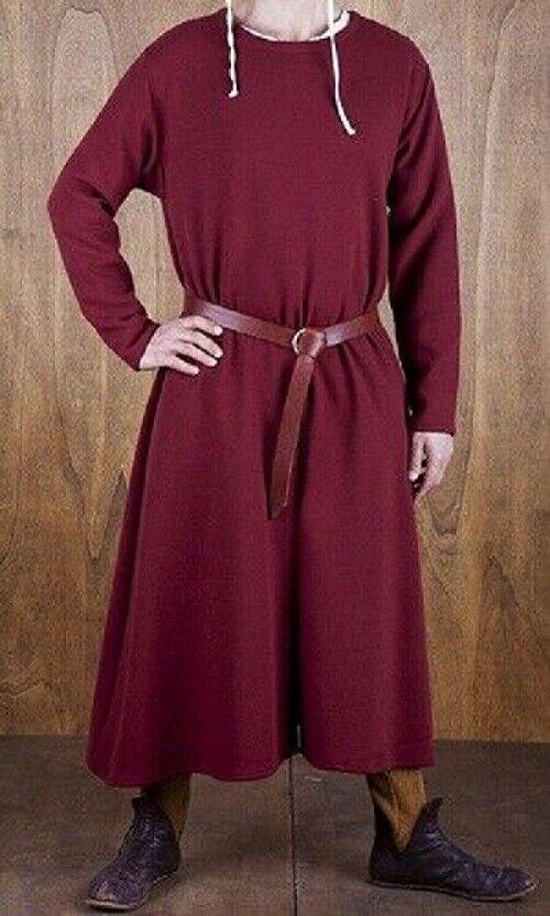 MEDIEVAL Maroon Tunic Surcoat Full Sleeve Renaissance LARP Costume Reenactment