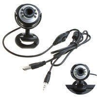 6 LED HD Webcam USB 2.0 50.0M PC Camera Web Cam with MIC for Computer PC Round