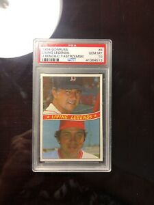 1984-DONRUSS-B-LIVING-LEGENDS-J-BENCH-C-YASTRZEMSKI-PSA-10-GEM-MINT