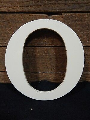 """Industrial Sign Letter O 6/"""" Aluminum Weatherproof Shabby Chic Monogrammed"""