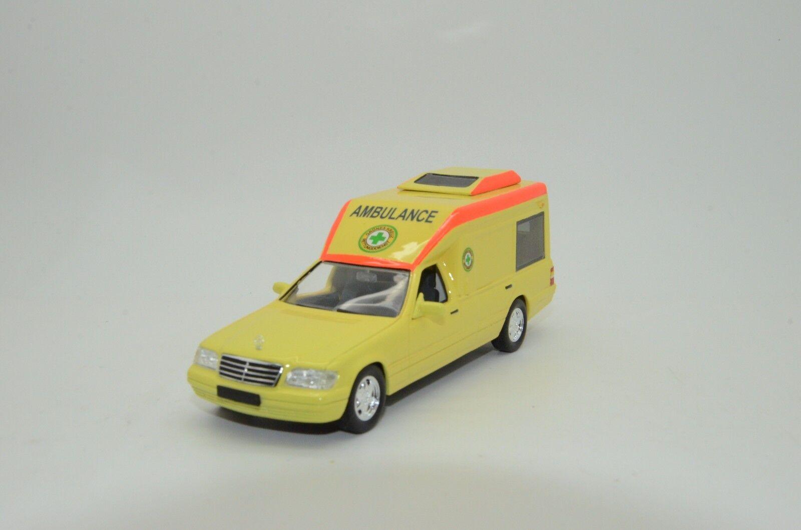 MEGA RARE    MERCEDES CLASSE S W140 ambulance Vector Modèles fait à la main 1 43 Lim.
