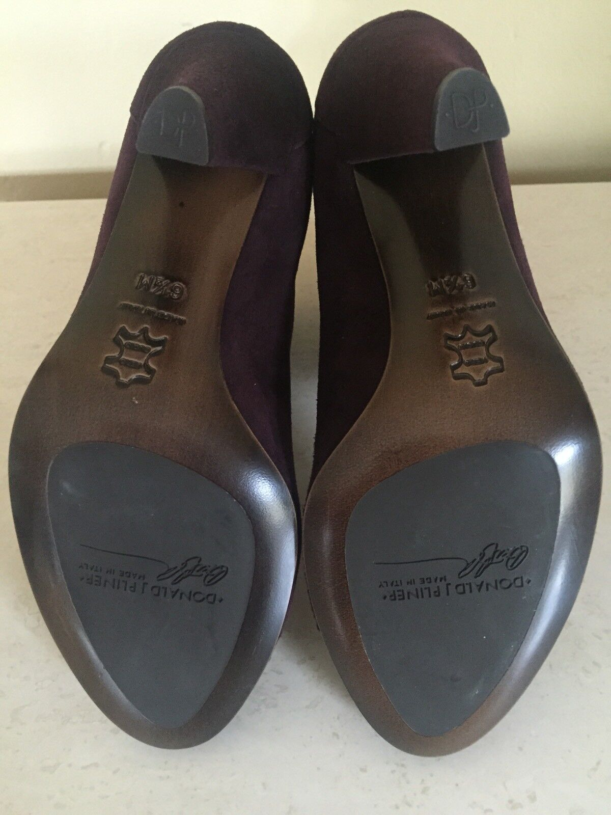 Donald J Pliner Purple Suede M Leder Ankle Boot 6.5 M Suede Career Csaual NEW bef8aa