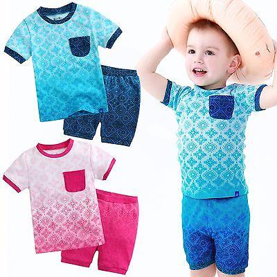 """Vaenait Baby Infant Kid Boy Clothes Short Pajama Outfit Set /""""Blue Guitar/"""" 2T-5T"""