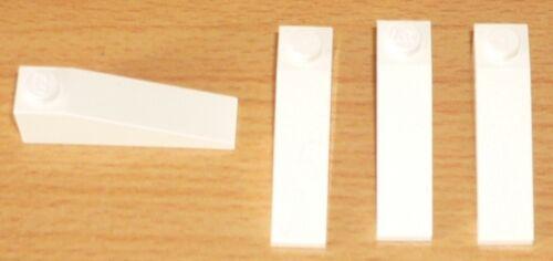 Lego 4 planos inclinados piedras 18 4 x 1 en blanco