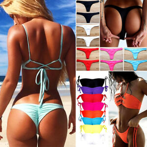 f5bd869f4c0 Image is loading Women-HOT-Brazilian-Cheeky-Bikini-Bottom-Thong-Swimming-
