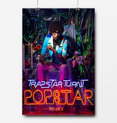PnB Rock Trapstar Turnt Popstar Custom Poster Print New Art Wall Decor
