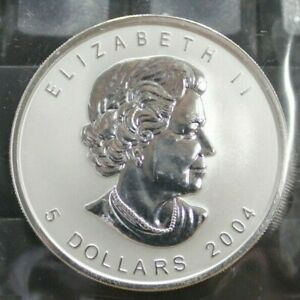 2004-Zodiac-Libra-Privy-Mark-5-Fine-Silver-Maple-Leaf-1oz-Coin-OOAK