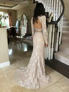 a2e579bc2e0  640 NWT TWO PIECE JOVANI PROM PAGEANT FORMAL WEDDING DRESS GOWN ...