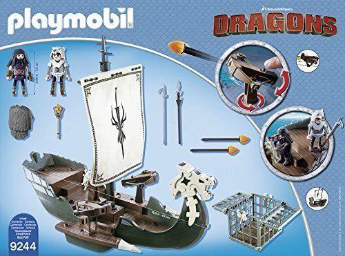 Playmobil 9244 Como entrenar a tu Dragon - Barco de Drago - NUEVO