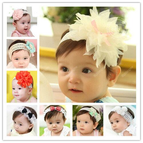 Lovely Baby Kid Girls Toddler Hairband Bow Flower Headband Hair Accessories 54
