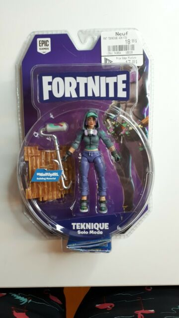 """Fortnite Teknique Solo Mode 4"""" Figure Pack By Jazwares Collectible Toy  Ages+8"""