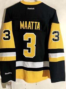 competitive price ce425 0fd2f Details about Reebok Women's Premier NHL Jersey Pittsburgh Penguins Olli  Maatta Black Alt sz L