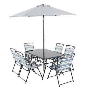 Homebase Wexfordly 6 Seater Metal Garden Furniture Dining ...