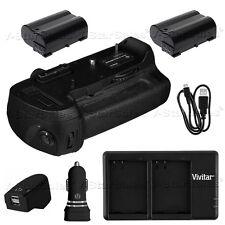 Battery Grip for Nikon D800 D810 MB-D12 + 2x EN-EL15 Batteries + Dual Charger