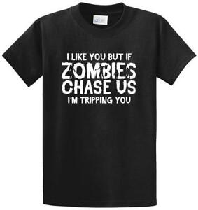 Zombies Chase Us Printed Tee Shirt Regular and Big and Tall Sizes
