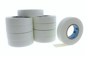 10pk-3-4-034-75-White-Heavy-Electrical-Tape-Wiring-Labeling-PVC-Vinyl-Contractor