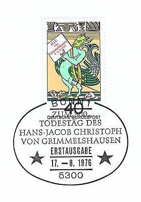 100% QualitäT Brd 1976: Von Grimmelshausen! Nr. 902 Mit Bonner Ersttags-sonderstempel! 1a 1905