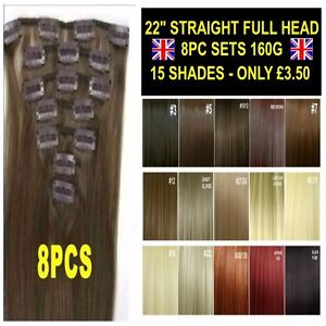 Straight-Hair-Extensions-22-034-8PCS-Full-Head-Clip-in-Brown-Blonde-Red-Feels-Human